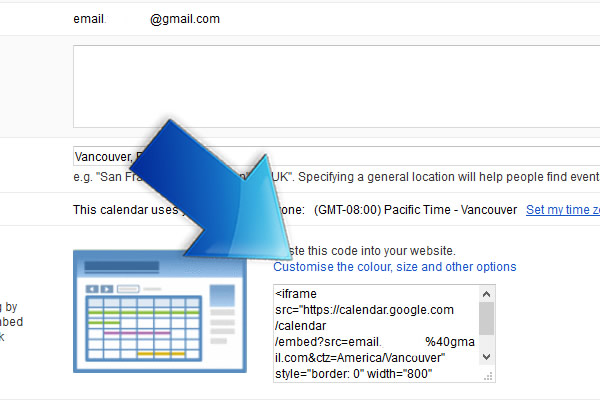 How Do I Get The Code for Google Calendar And Add It To My Website